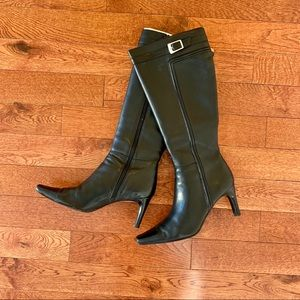 Women's Apostrophe Leather Heeled Boots